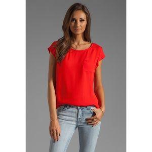 Joie | Rancher Silk Top, Fiery Red, L